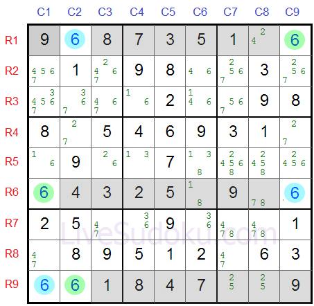 Sudoku Swordfish Exemplo