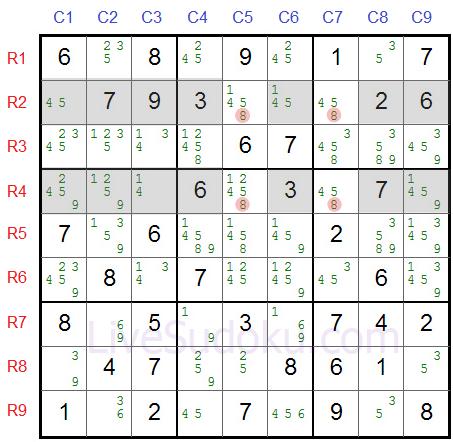 X Wing w Sudoku