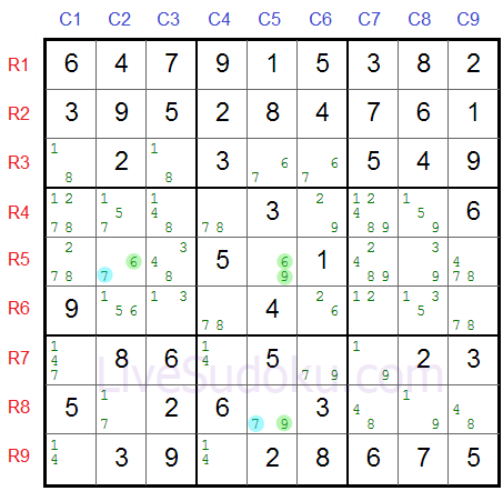 XY Wing w Sudoku