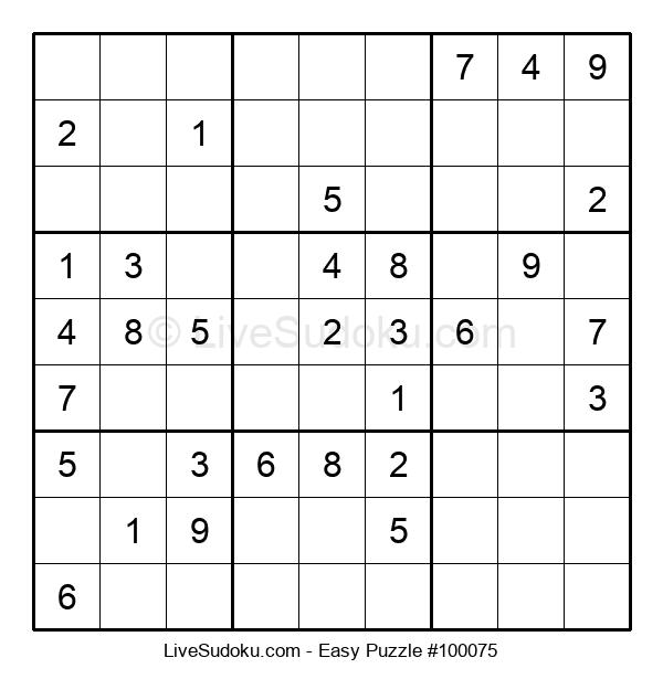 Beginners Puzzle #100075