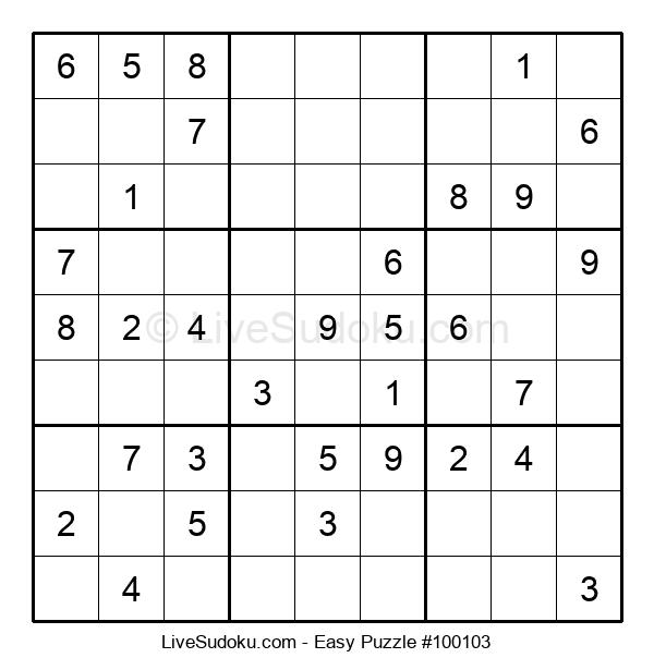 Beginners Puzzle #100103