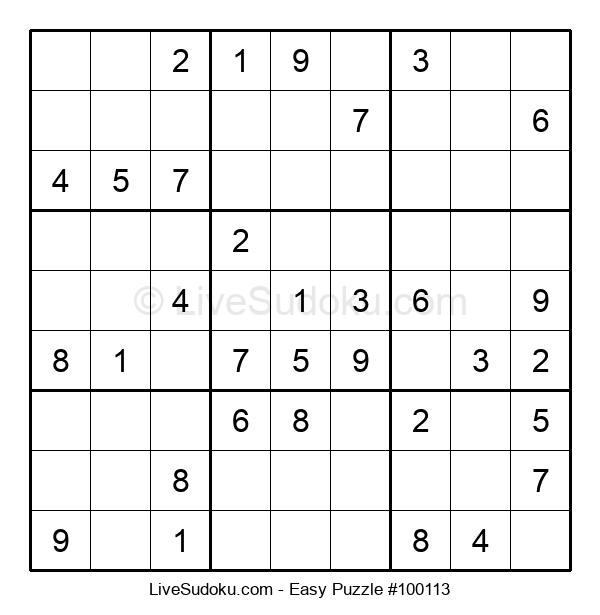 Beginners Puzzle #100113