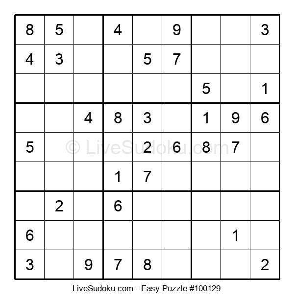 Beginners Puzzle #100129