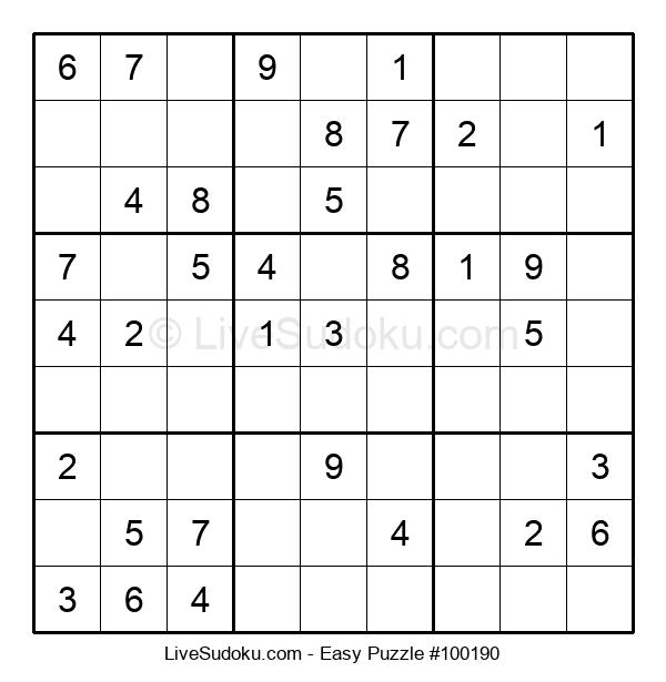 Beginners Puzzle #100190