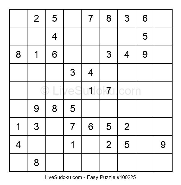 Beginners Puzzle #100225