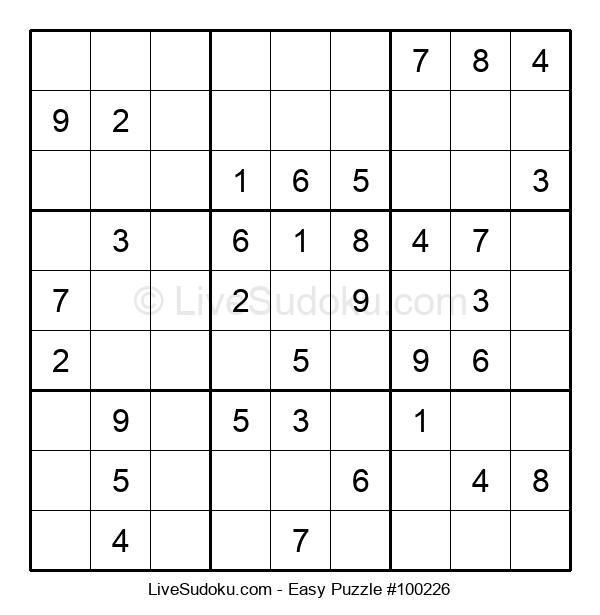 Beginners Puzzle #100226