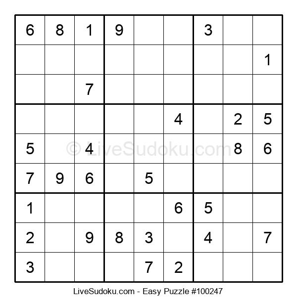 Beginners Puzzle #100247