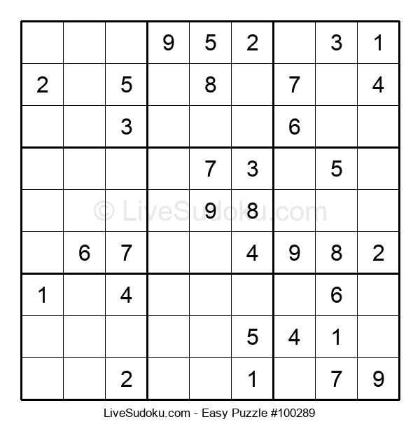 Beginners Puzzle #100289