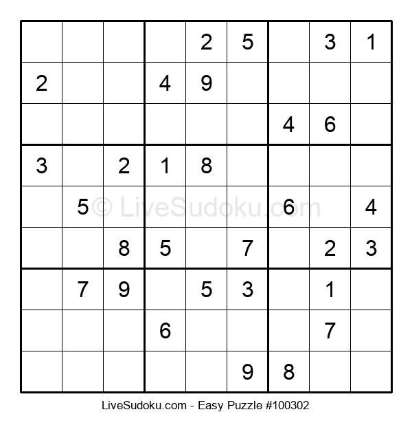 Beginners Puzzle #100302