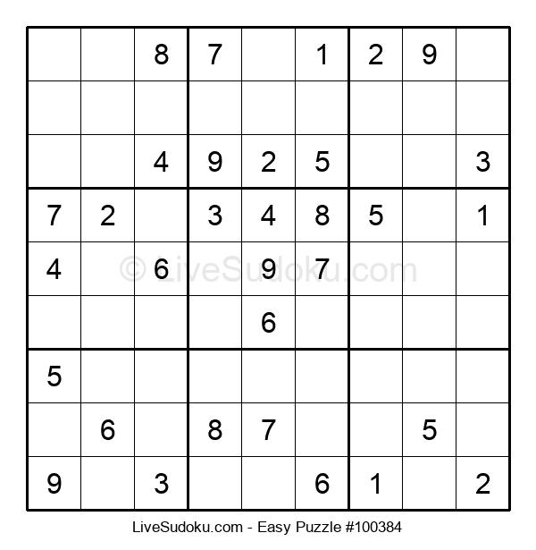 Beginners Puzzle #100384
