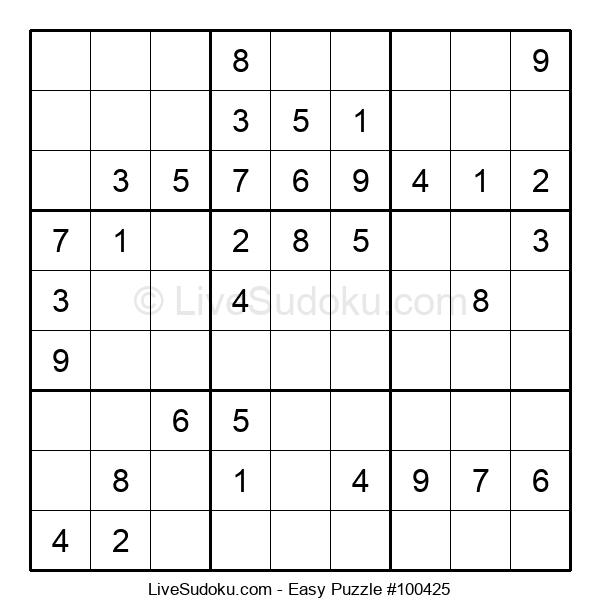 Beginners Puzzle #100425