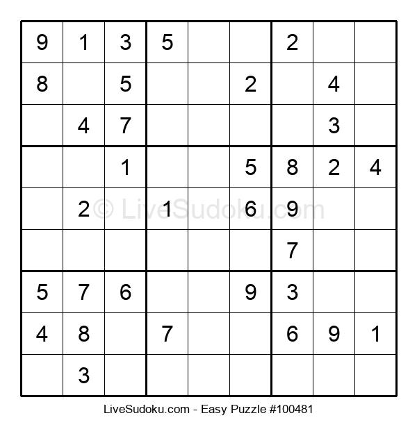 Beginners Puzzle #100481