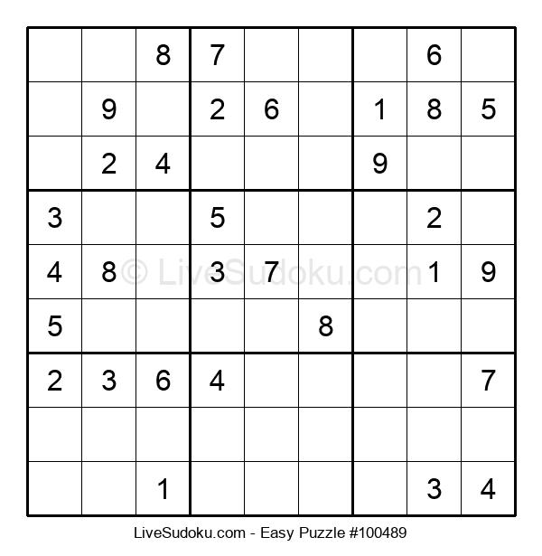 Beginners Puzzle #100489