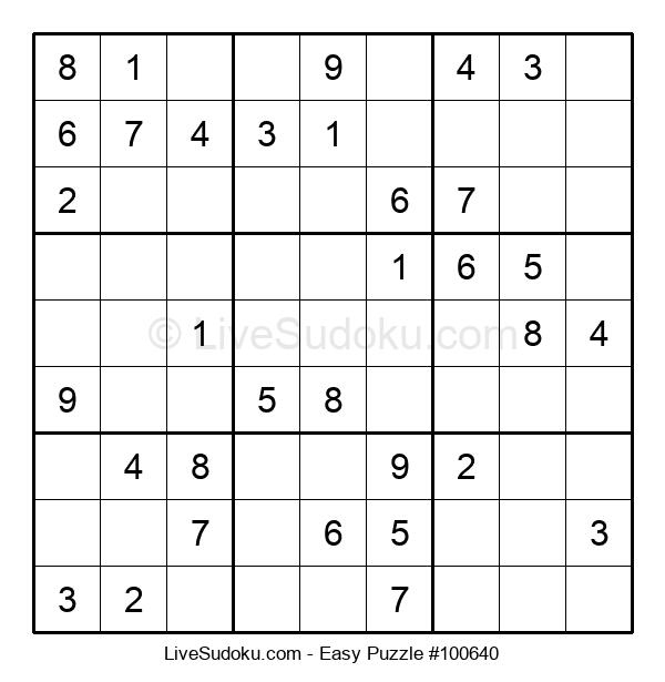 Beginners Puzzle #100640