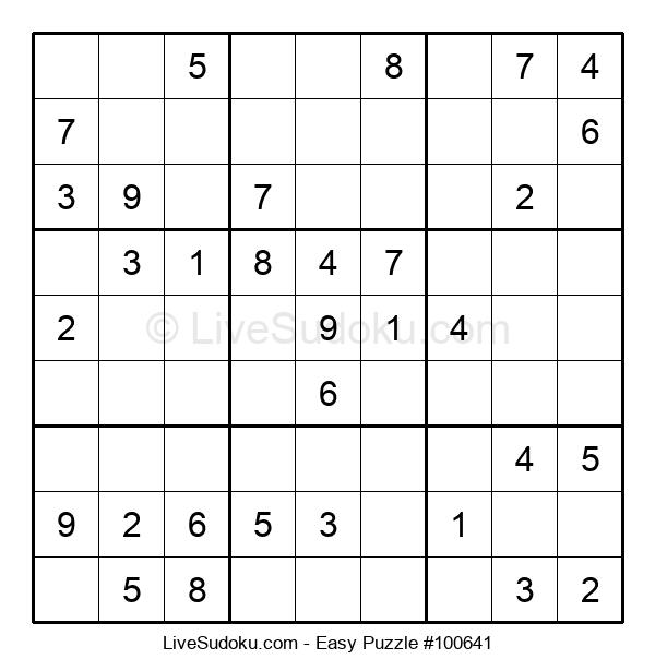 Beginners Puzzle #100641