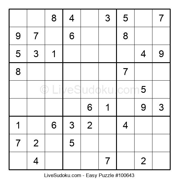 Beginners Puzzle #100643