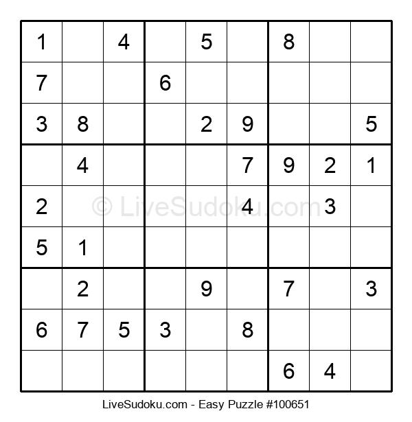 Beginners Puzzle #100651