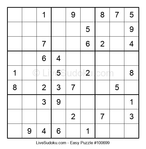 Beginners Puzzle #100699