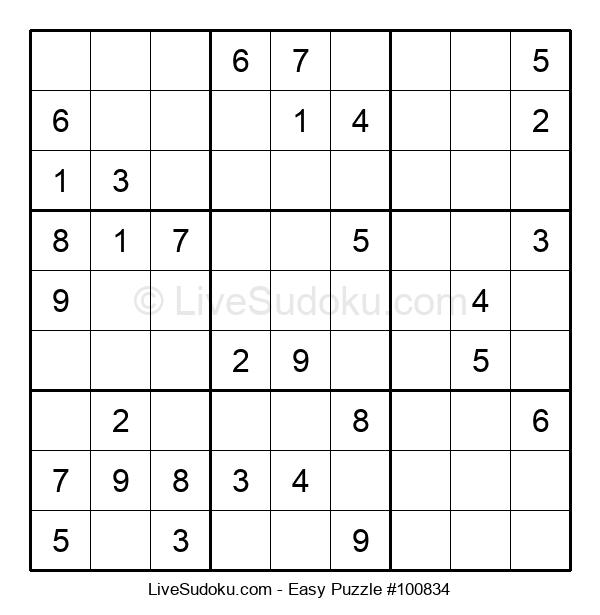 Beginners Puzzle #100834