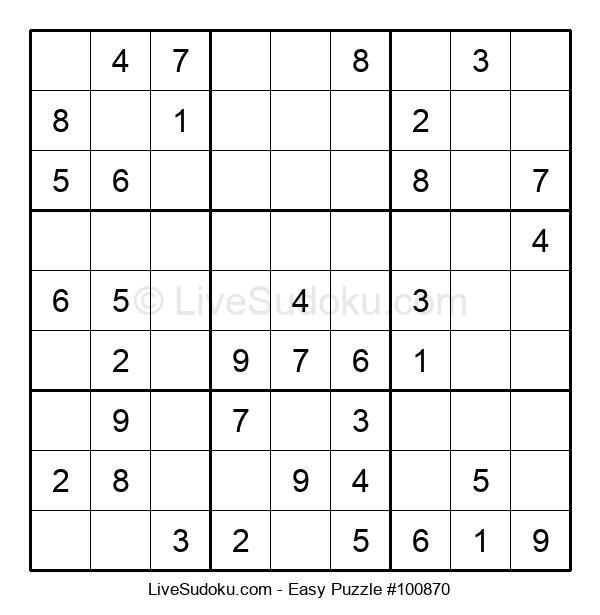 Beginners Puzzle #100870
