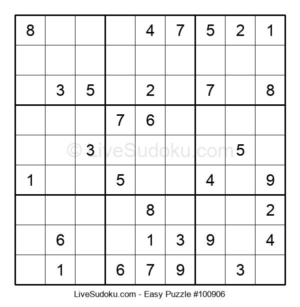 Beginners Puzzle #100906