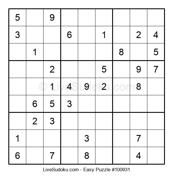 Beginners Puzzle #100931