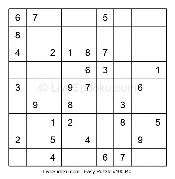 Beginners Puzzle #100940