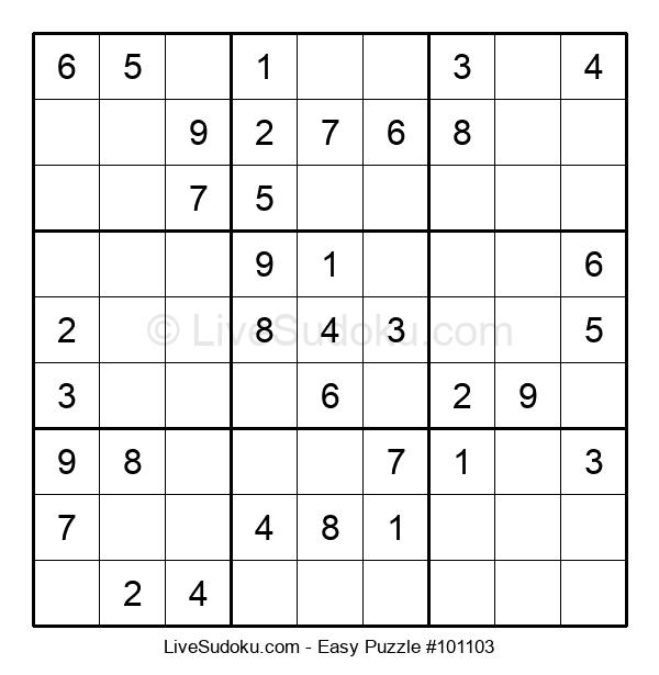 Beginners Puzzle #101103