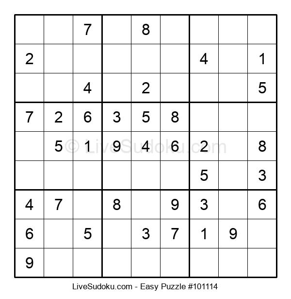 Beginners Puzzle #101114
