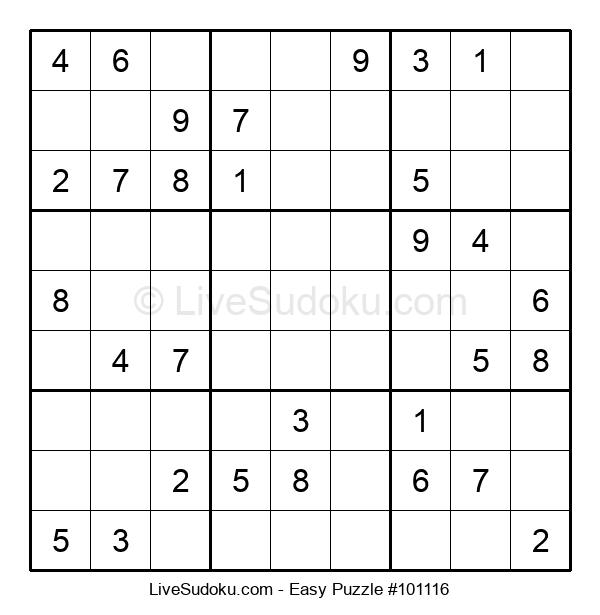 Beginners Puzzle #101116