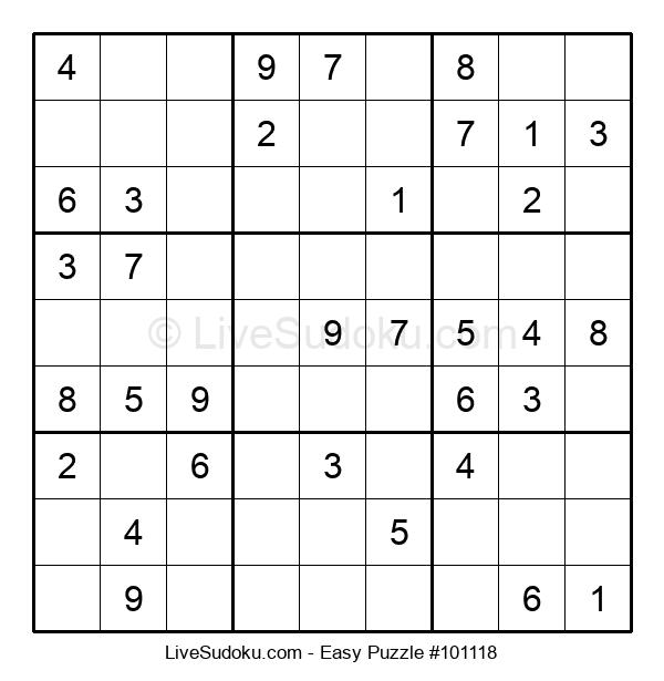 Beginners Puzzle #101118
