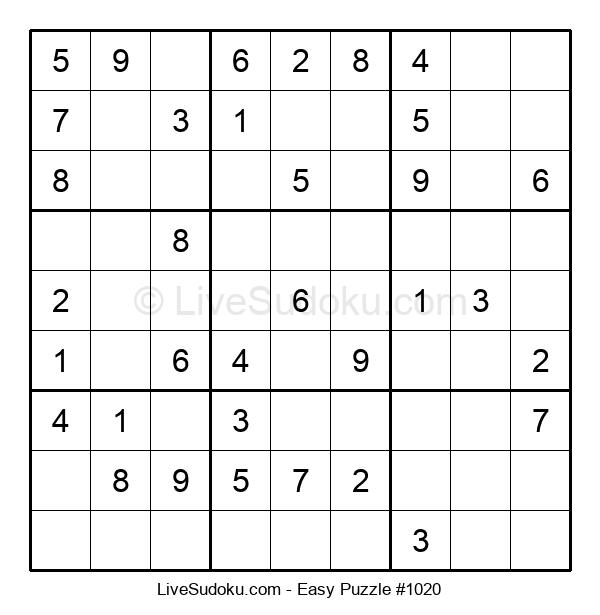Beginners Puzzle #1020