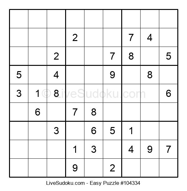 Beginners Puzzle #104334