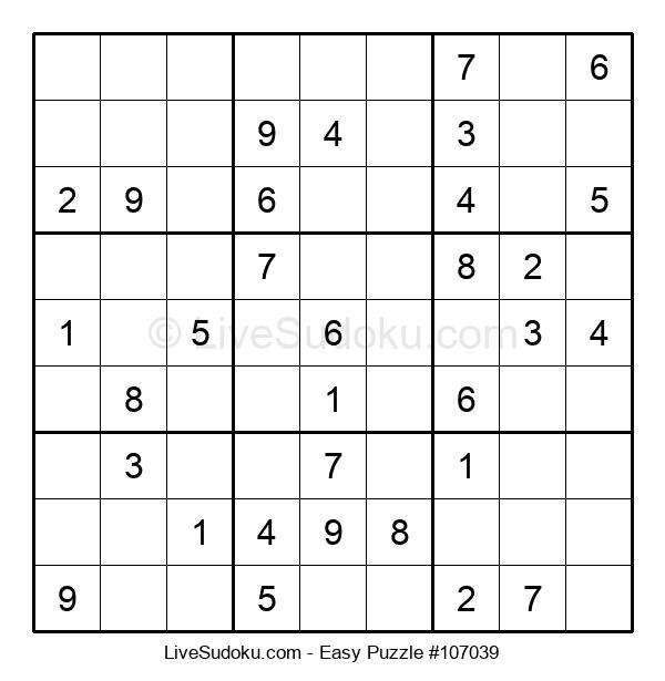 Beginners Puzzle #107039