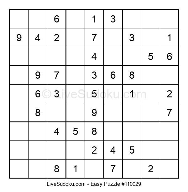 Beginners Puzzle #110029