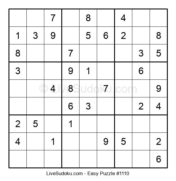 Beginners Puzzle #1110