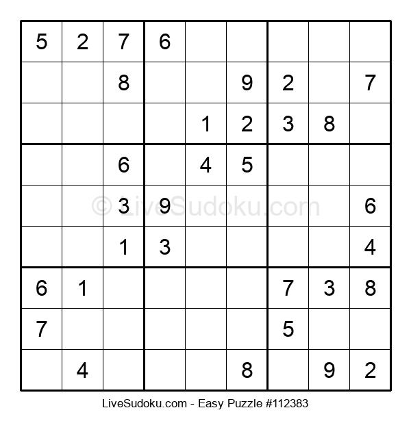 Beginners Puzzle #112383