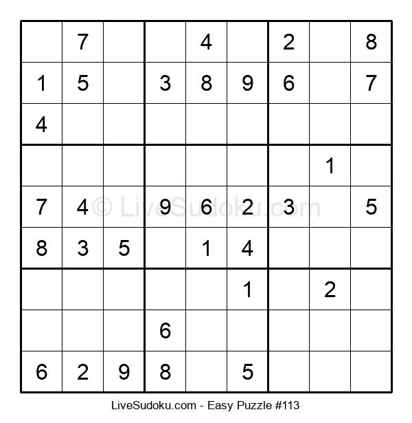 Beginners Puzzle #113
