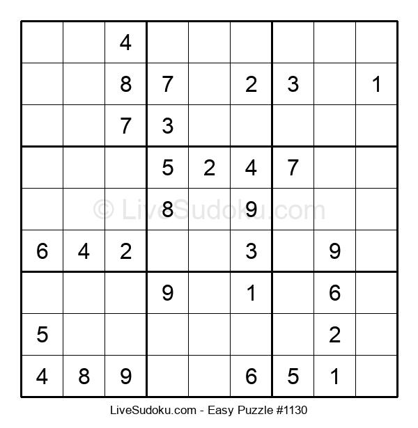 Beginners Puzzle #1130
