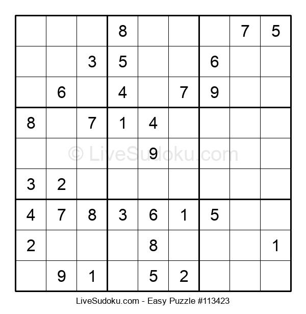 Beginners Puzzle #113423