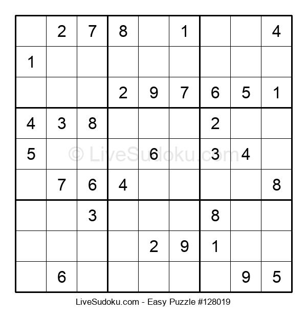 Beginners Puzzle #128019