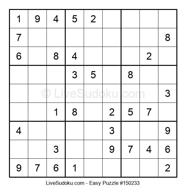 Beginners Puzzle #150233