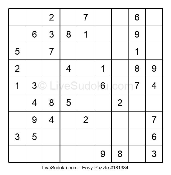 Beginners Puzzle #181384