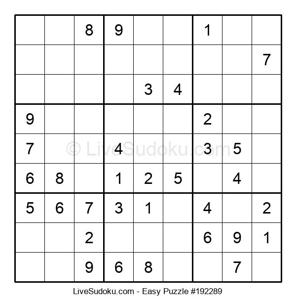 Beginners Puzzle #192289
