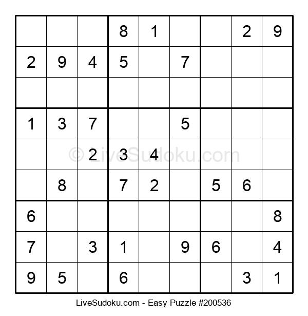 Beginners Puzzle #200536