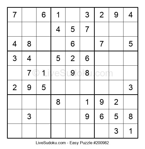 Beginners Puzzle #200982