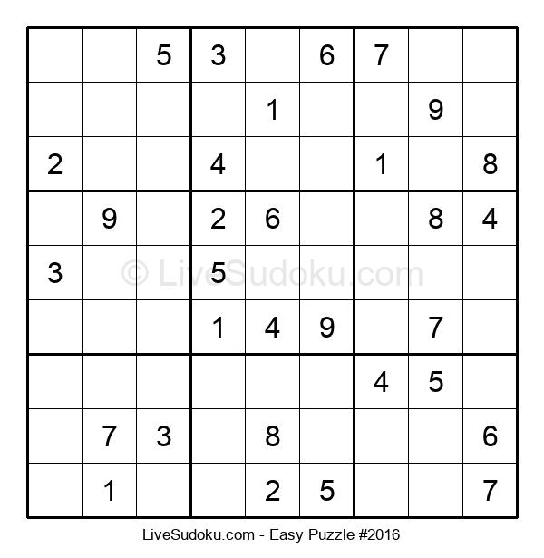 Beginners Puzzle #2016