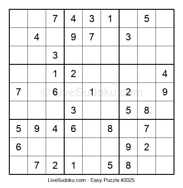 Beginners Puzzle #2025