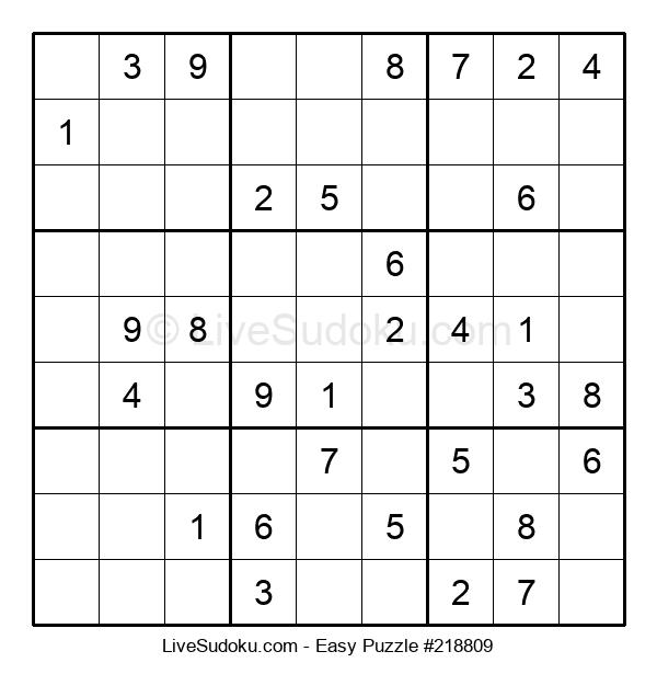 Beginners Puzzle #218809