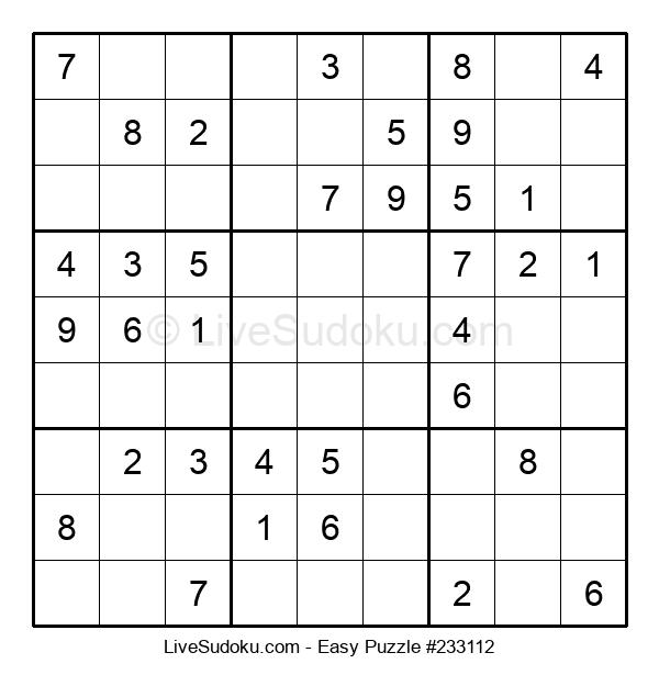 Beginners Puzzle #233112